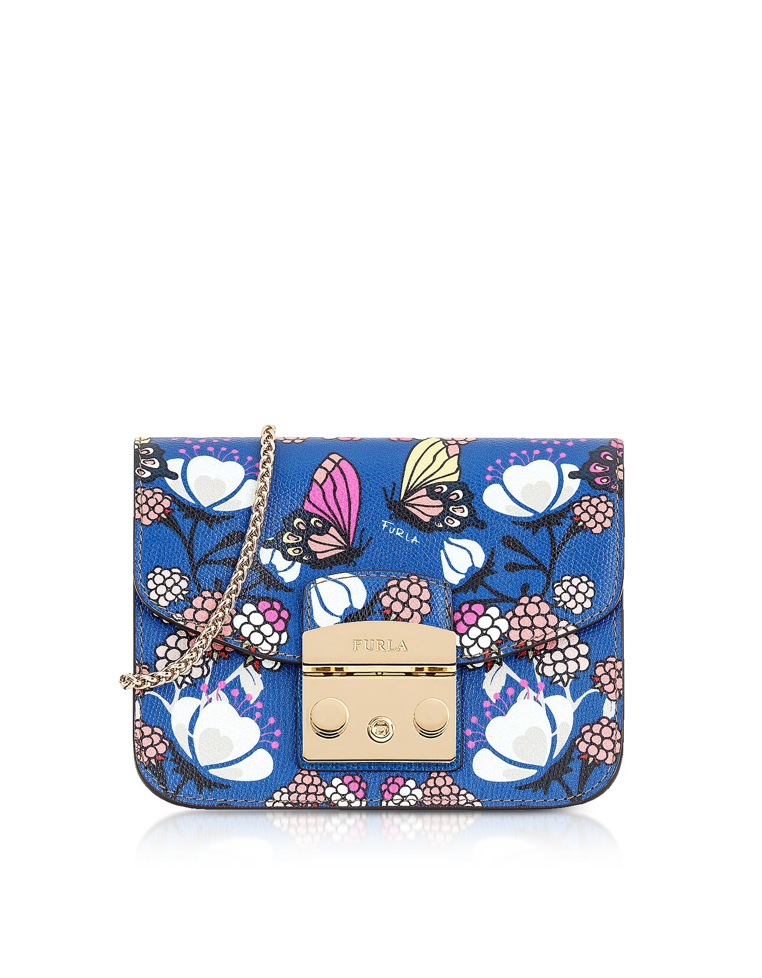 Furla Handbags, Toni Pavone Leather Metropolis Mini Crossbody Bag