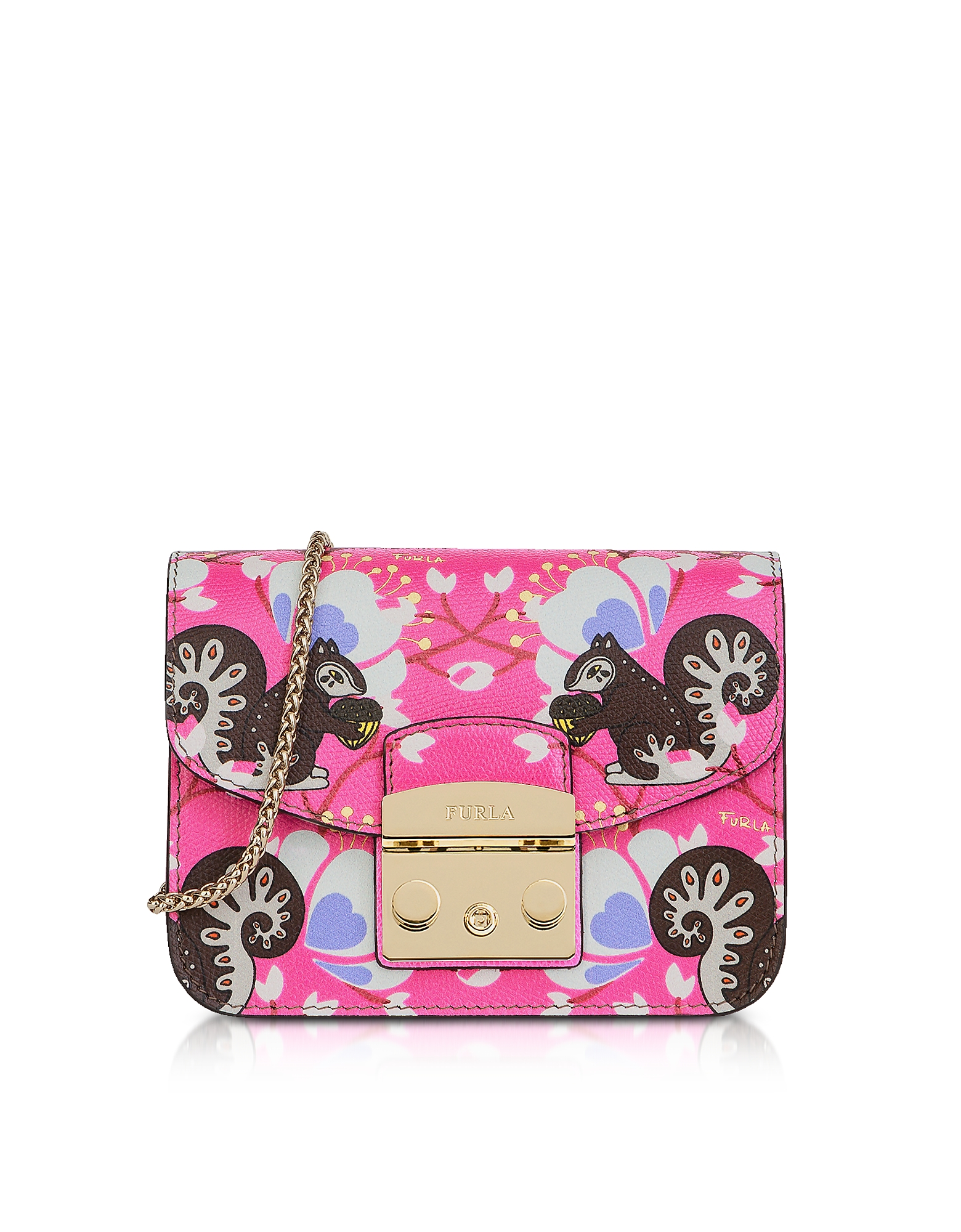Furla Handbags, Toni Fucsia Leather Metropolis Mini Crossbody Bag