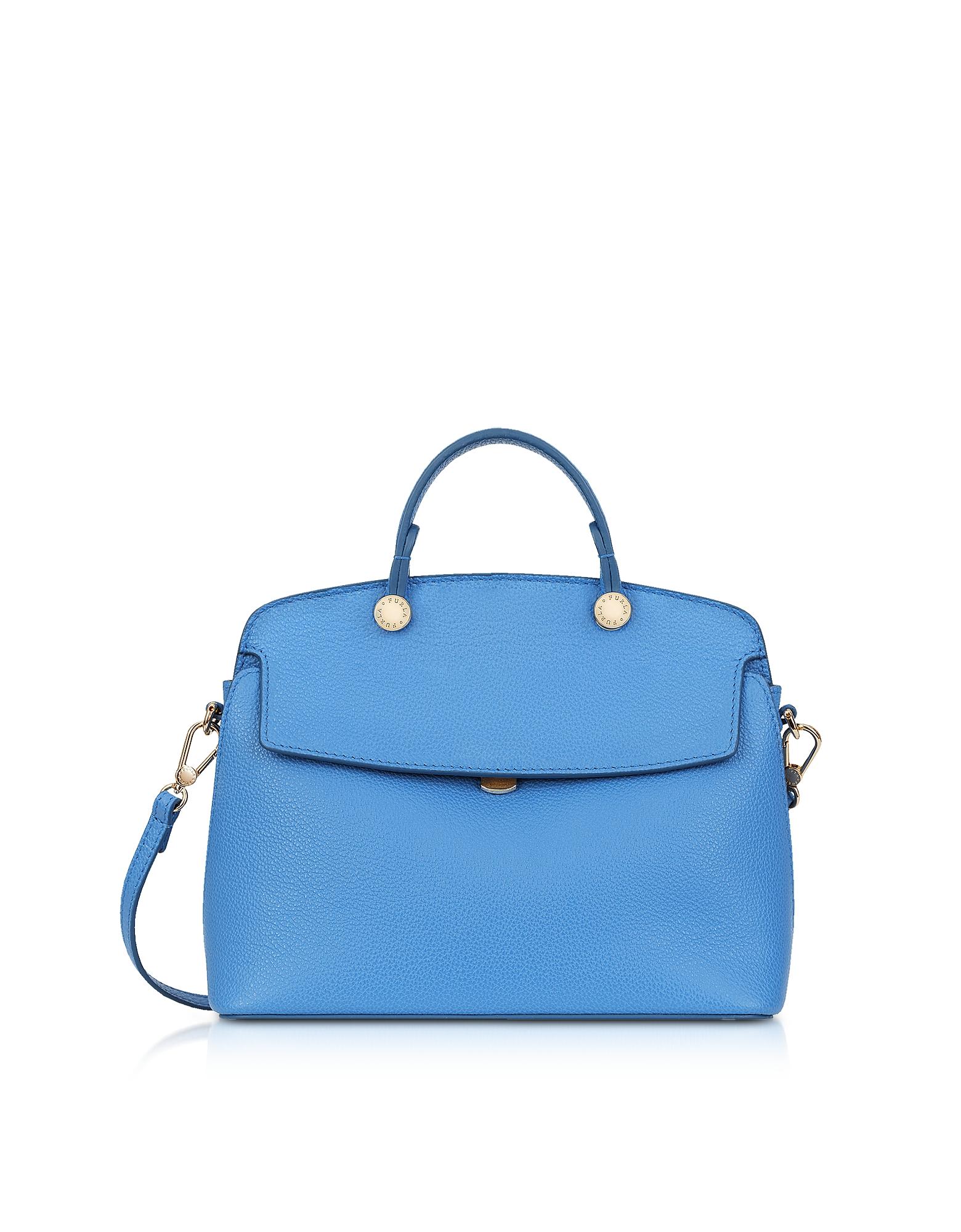 Furla Handbags, Celeste Leather My Piper Small Satchel