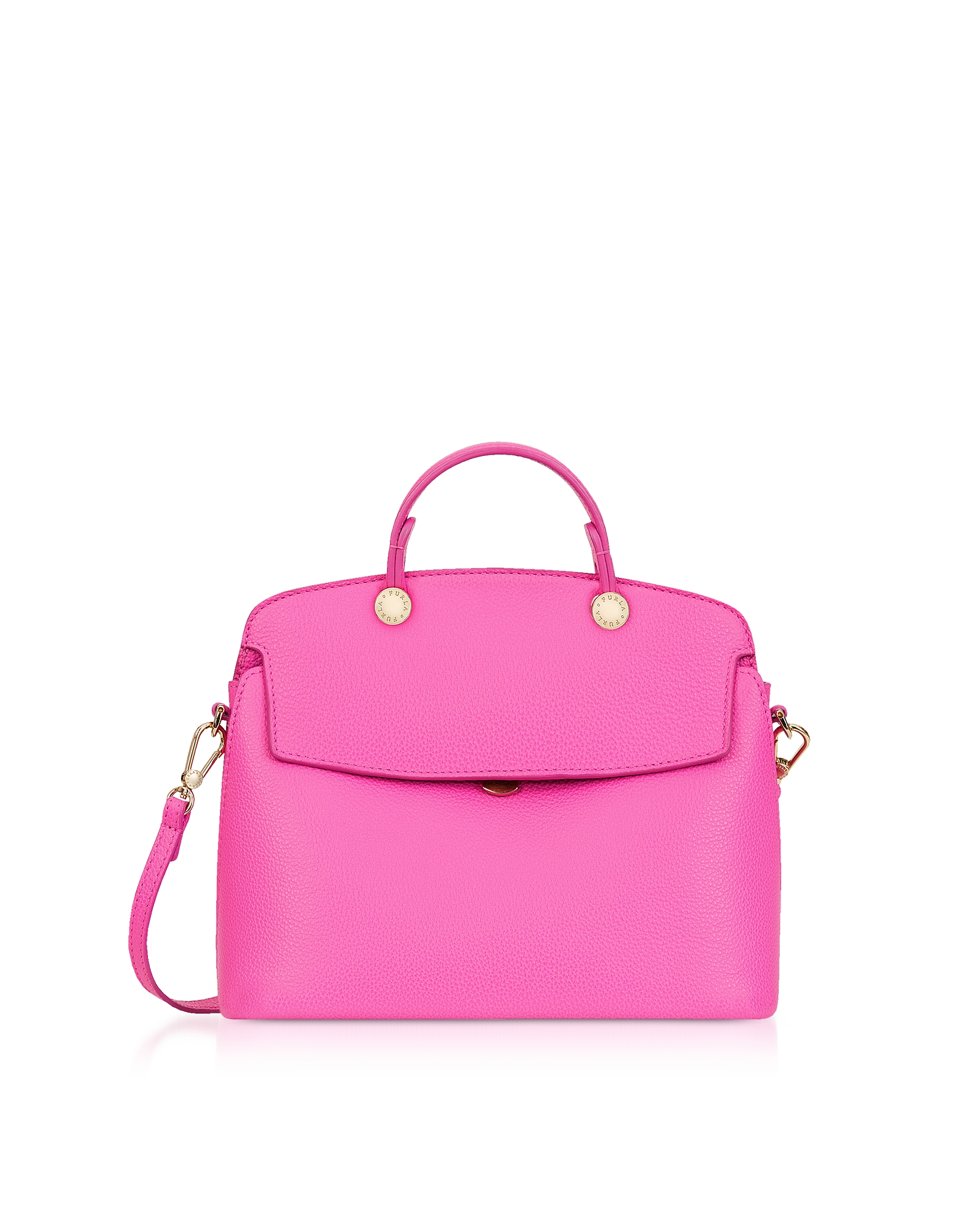 Furla Handbags, Fuchsia Leather My Piper Small Satchel Bag