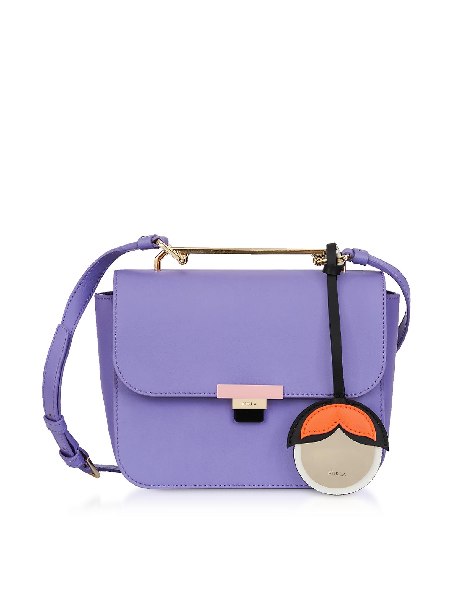 Furla Handbags, Giglio Leather Elisir Mini Crossbody Bag