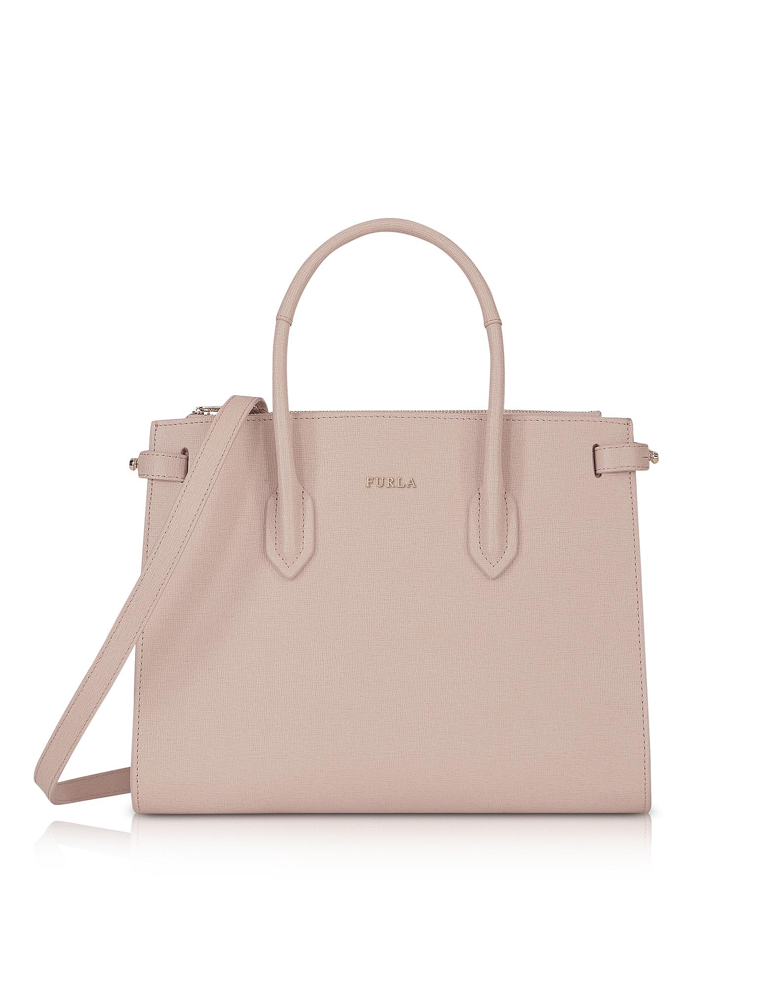 Saffiano Leather Pin Small E/W Tote Bag