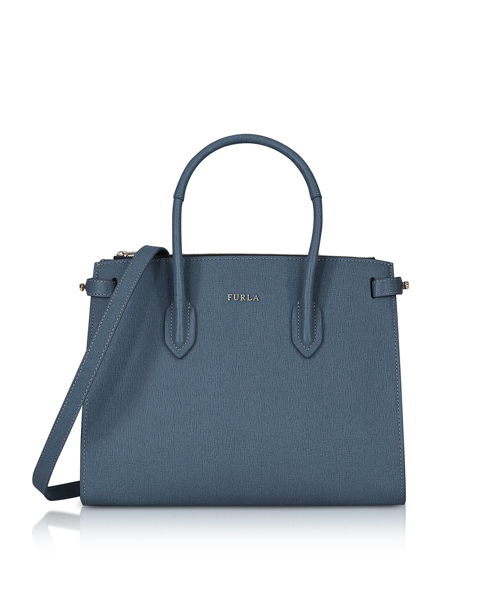 Furla Handbags, Saffiano Leather Pin Small E/W Tote Bag