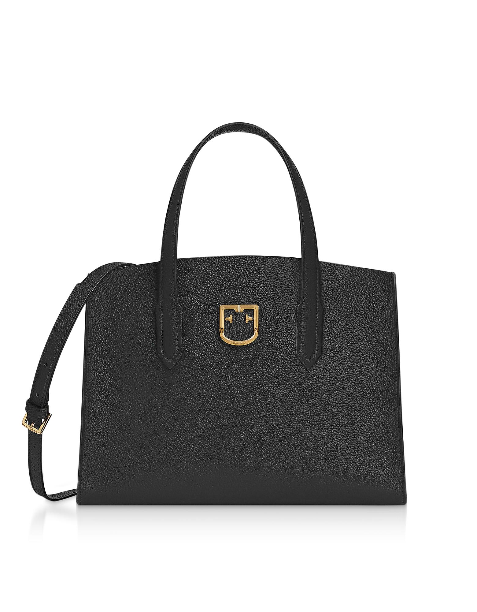 Onyx Black Lodovica M Tote Bag