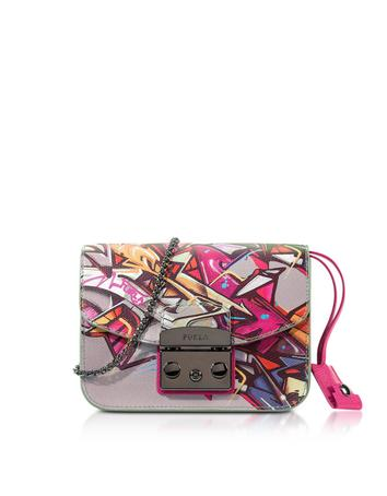 Metropolis Toni Pinky Graffiti Mini Crossbody Bag