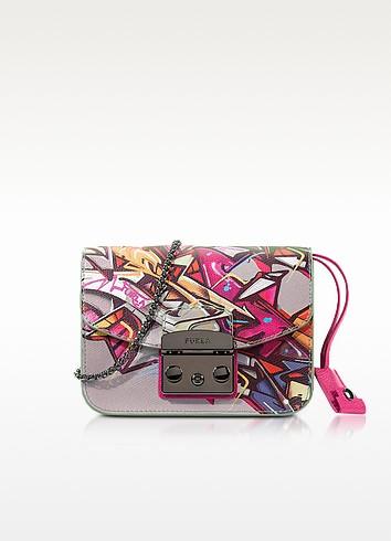 Metropolis Toni Pinky Graffiti Mini Crossbody Bag - Furla