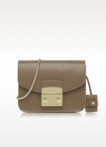 Metropolis Color Daino Leather Mini Crossbody Bag - Furla
