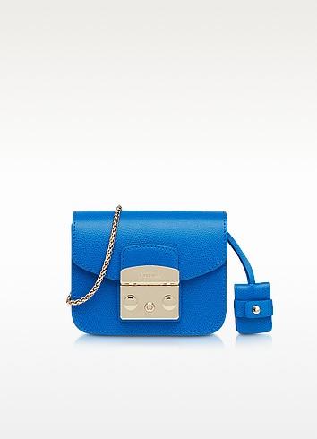 Metropolis Bluette Leather XS Crossbody  - Furla