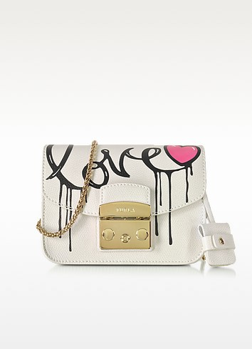 Metropolis Mania Petalo Leather Mini Crossbody Bag - Furla