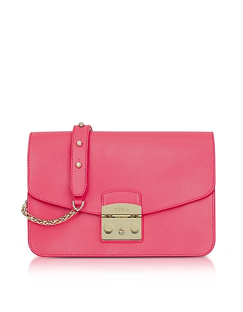 Furla - Rose Metropolis Small Leather Shoulder Bag
