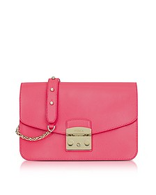 Rose Metropolis Small Leather Shoulder Bag - Furla