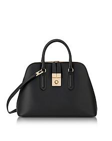 Onyx Milano Medium Leather Handle Bag - Furla