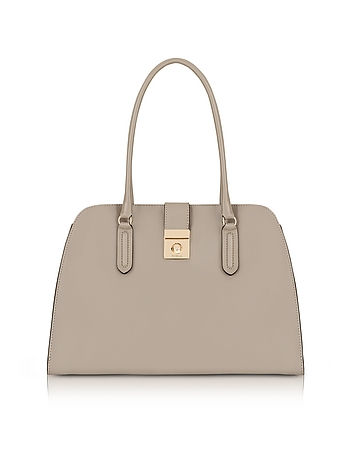 Furla - Sabbia Milano Medium Leather Tote Bag