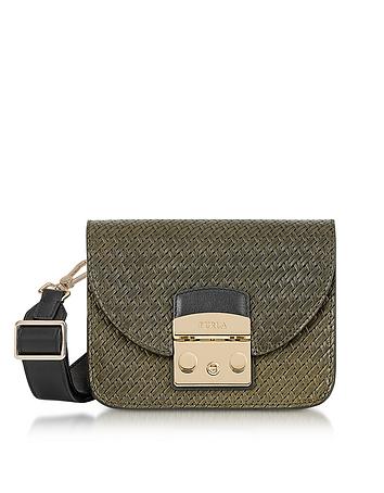 Furla - Salvia Woven Leather Metropolis Gilda Mini Crossbody Bag