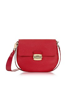 Club S Ruby Pebble Leather Crossbody Bag - Furla