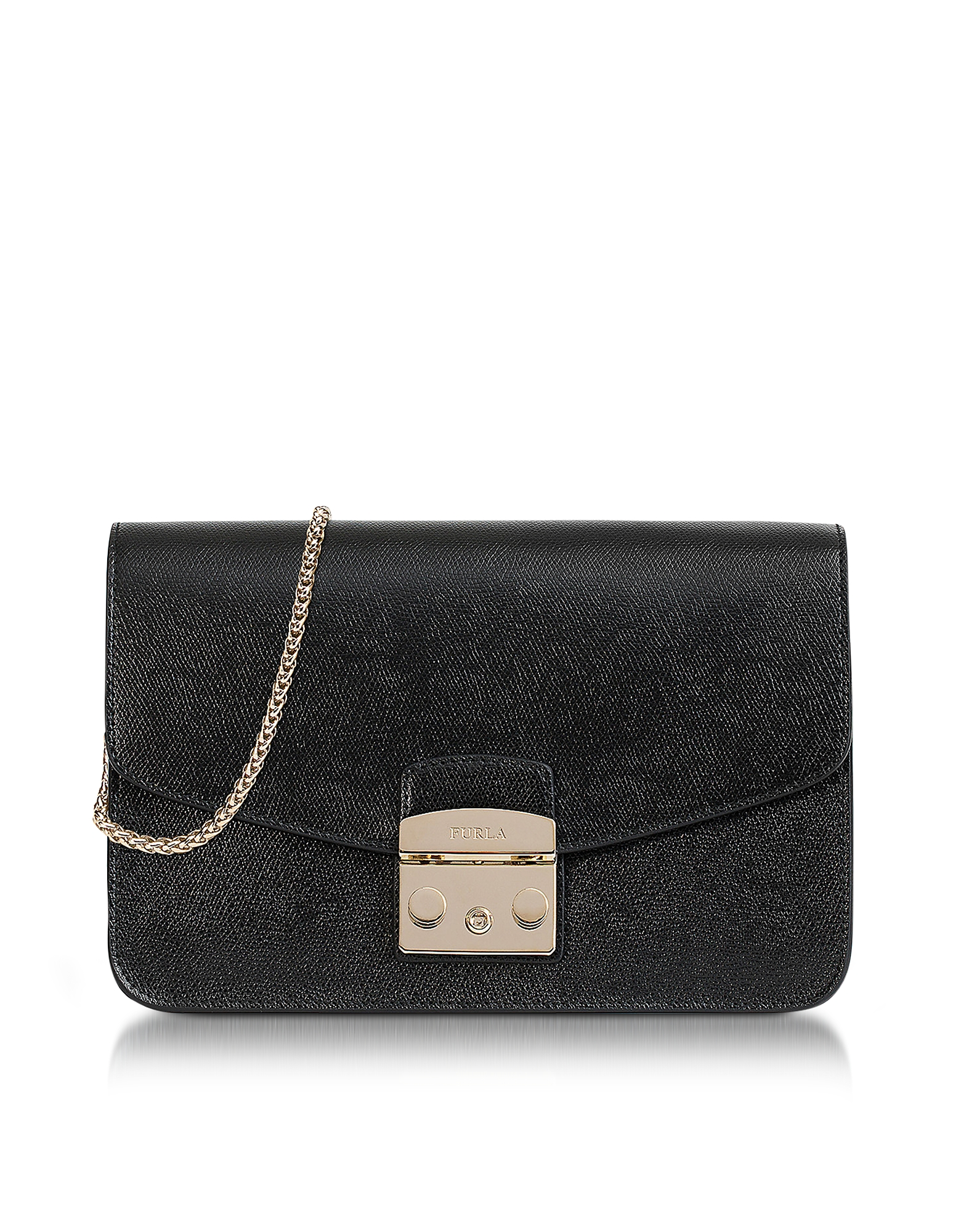 Furla Handbags, Onyx Metropolis Small Leather Shoulder Bag
