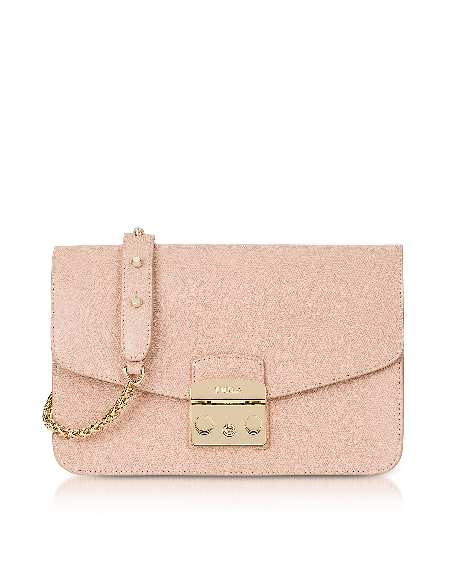 Furla Handbags, Moonstone Metropolis Small Leather Shoulder Bag