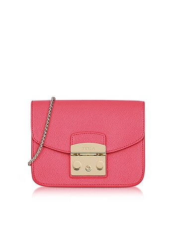Furla - Rose Leather Metropolis Mini Crossbody Bag