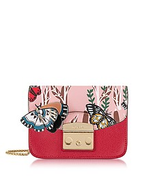 Ruby Metropolis Crossbody Bag w/Detachable Butterfly Flap - Furla