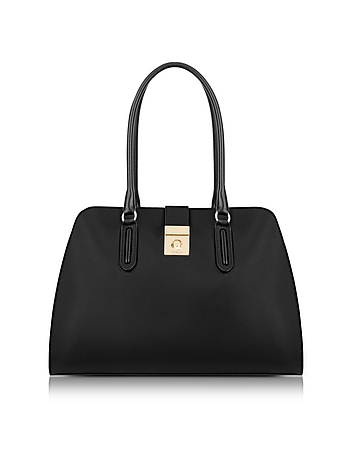 Onyx Milano Medium Leather Tote Bag