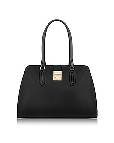 Onyx Milano Medium Leather Tote Bag - Furla