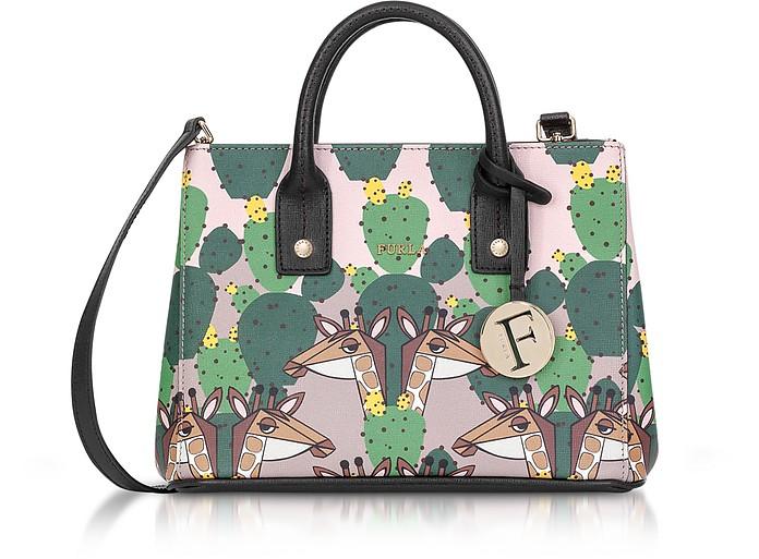 Multicolor Altopiano Printed Saffiano Leather Linda Mini Tote Bag - Furla