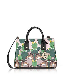 Multicolor Altopiano Printed Saffiano Leather Linda Mini Tote Bag - Furla