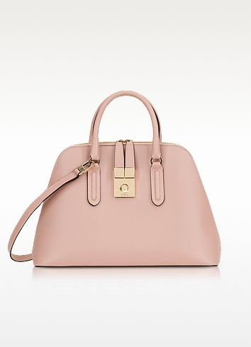 Moonstone Milano Medium Leather Handle Bag - Furla