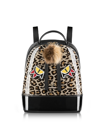 Furla - Leopard Print and Toni Glace Candy Jungle Small Backpack