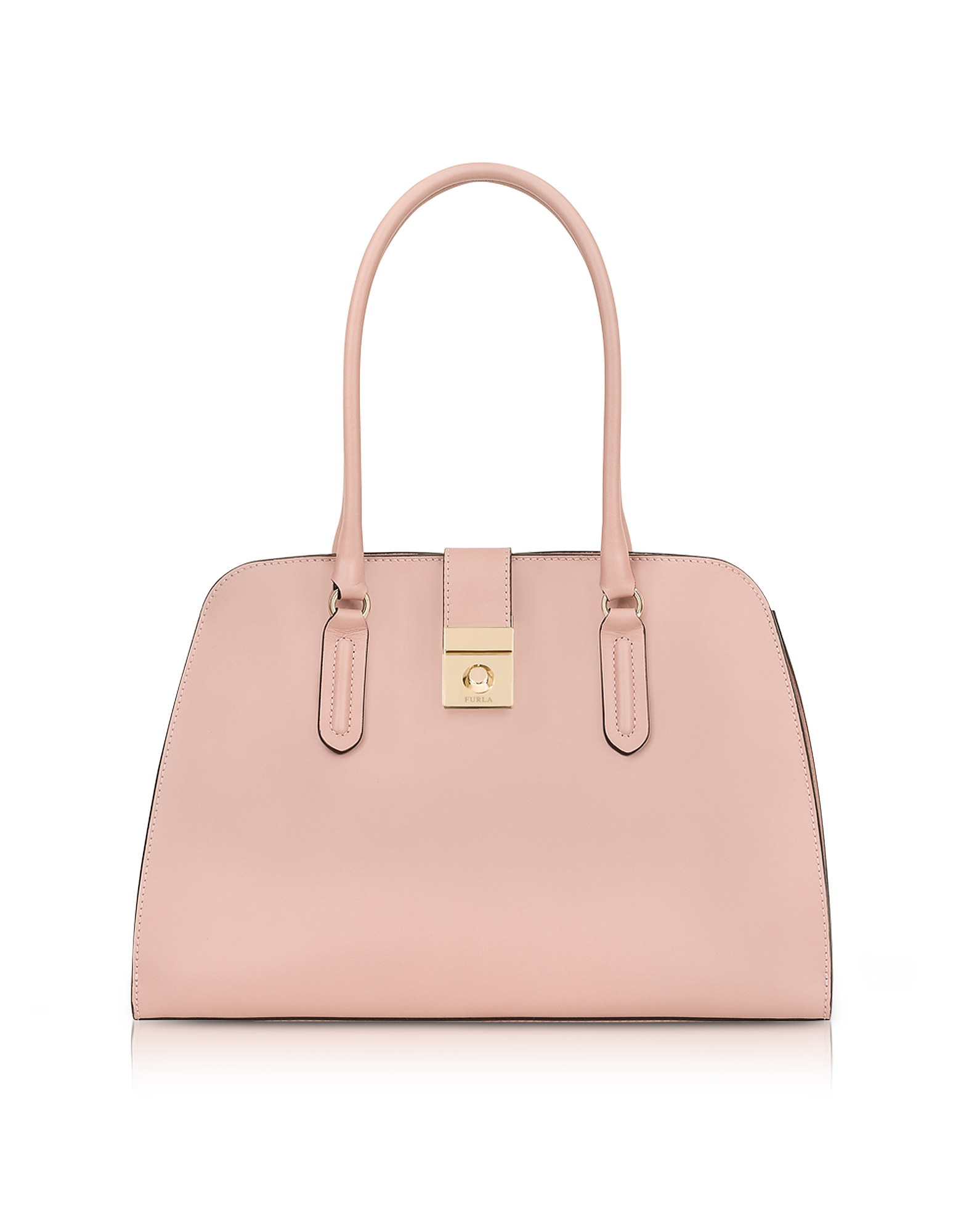 Furla Handbags, Moonstone Milano Medium Leather Tote Bag