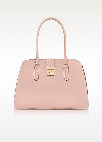 Moonstone Milano Medium Leather Tote Bag - Furla