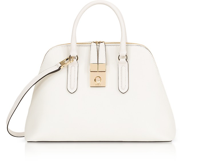 Petalo Milano Medium Leather Satchel Bag - Furla