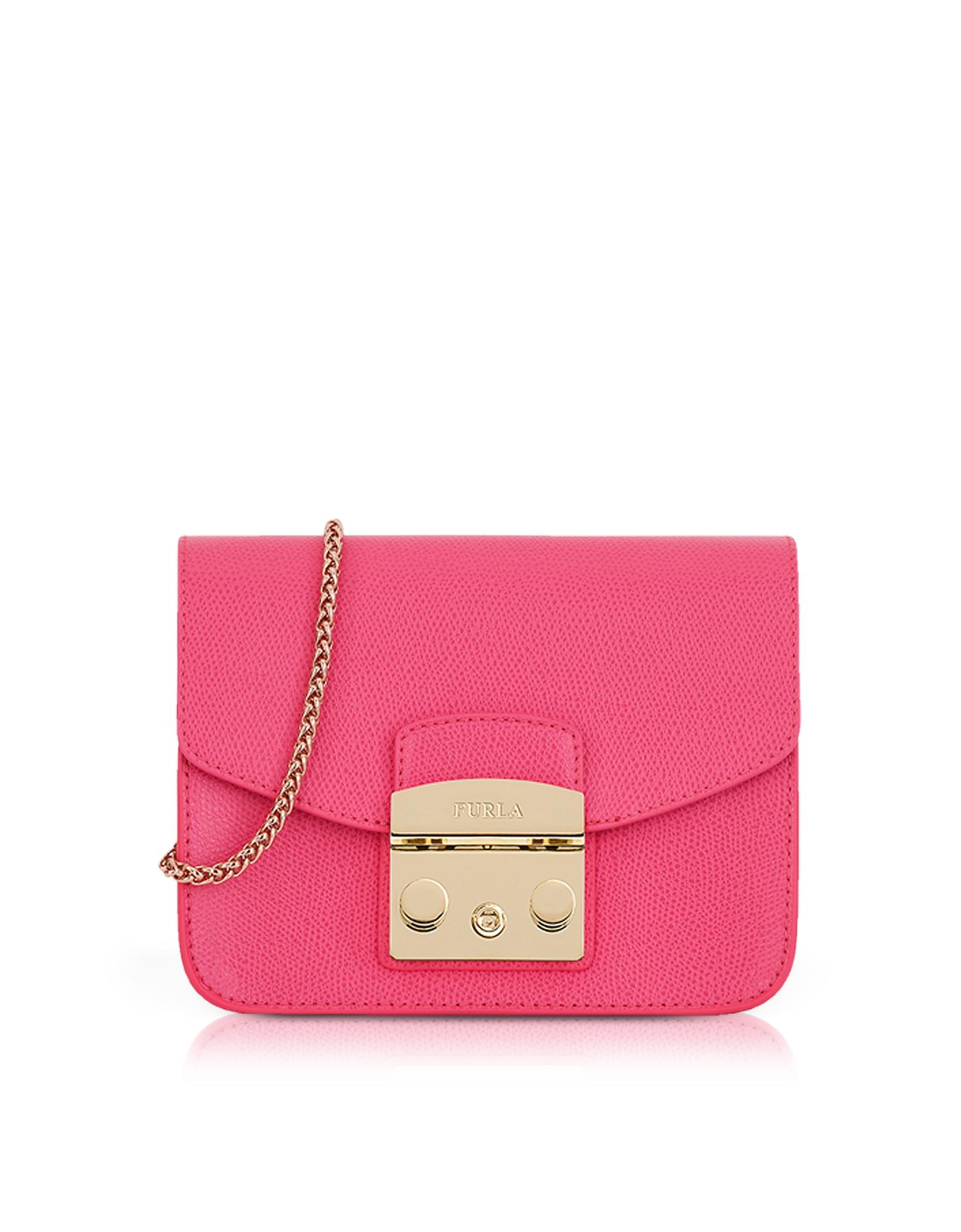 Image of Furla Designer Handbags, Ortensia Lizard Printed Leather Metropolis Mini Crossbody Bag
