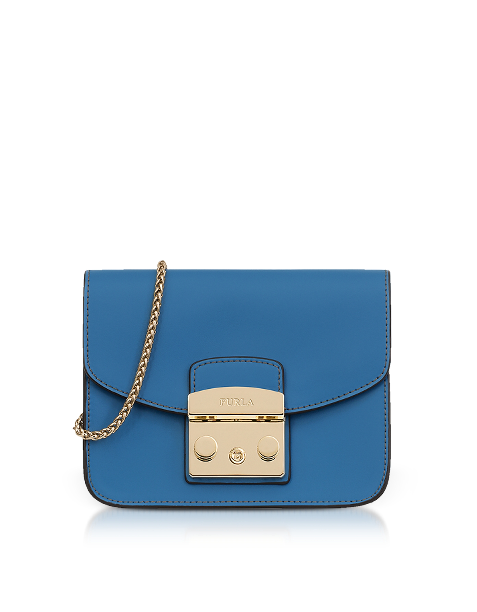 Furla Handbags, Genziana Smooth Leather Metropolis Mini Crossbody Bag
