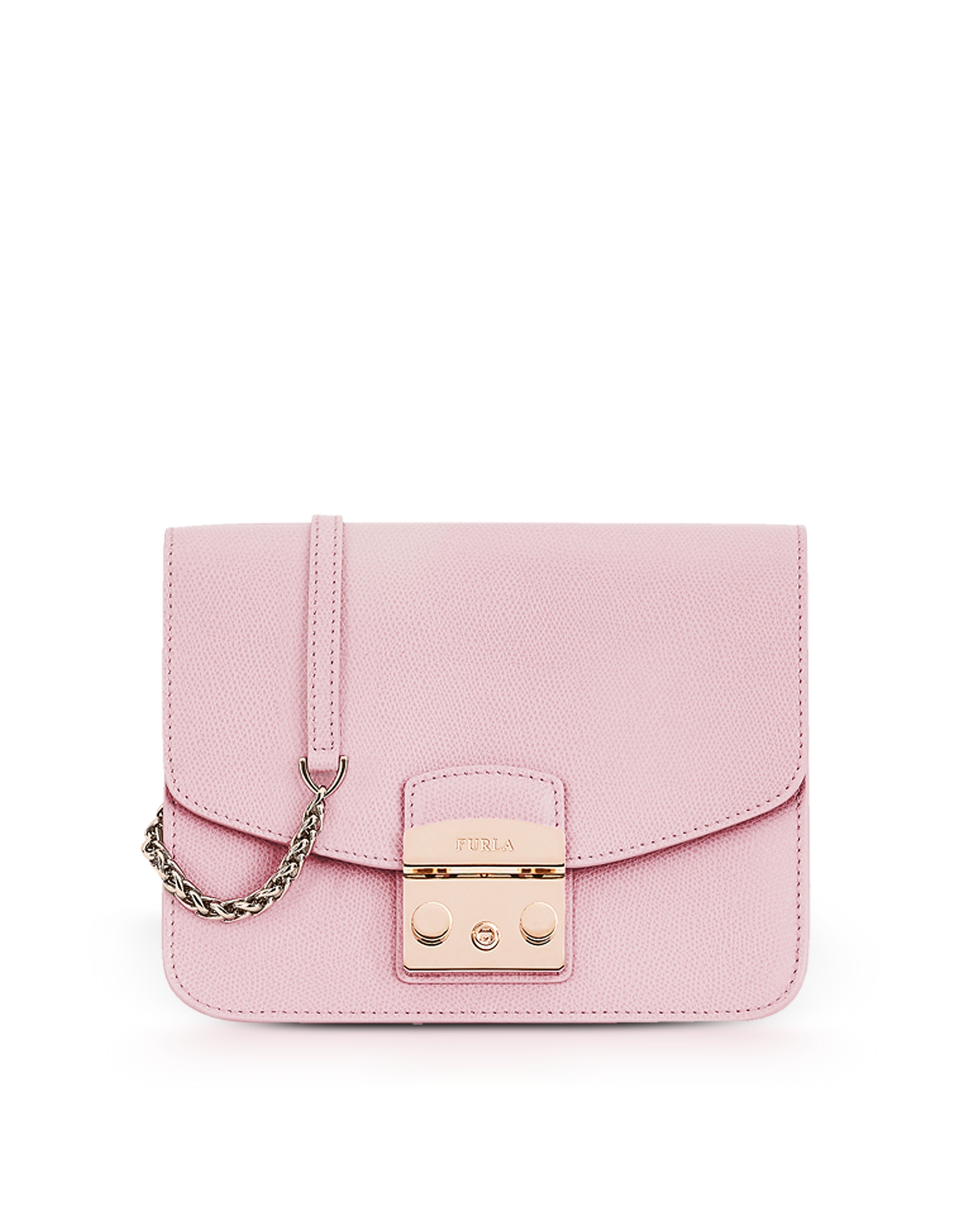 Furla Handbags, Camelia Pink Lizard Printed Leather Metropolis Small Crossbody Bag