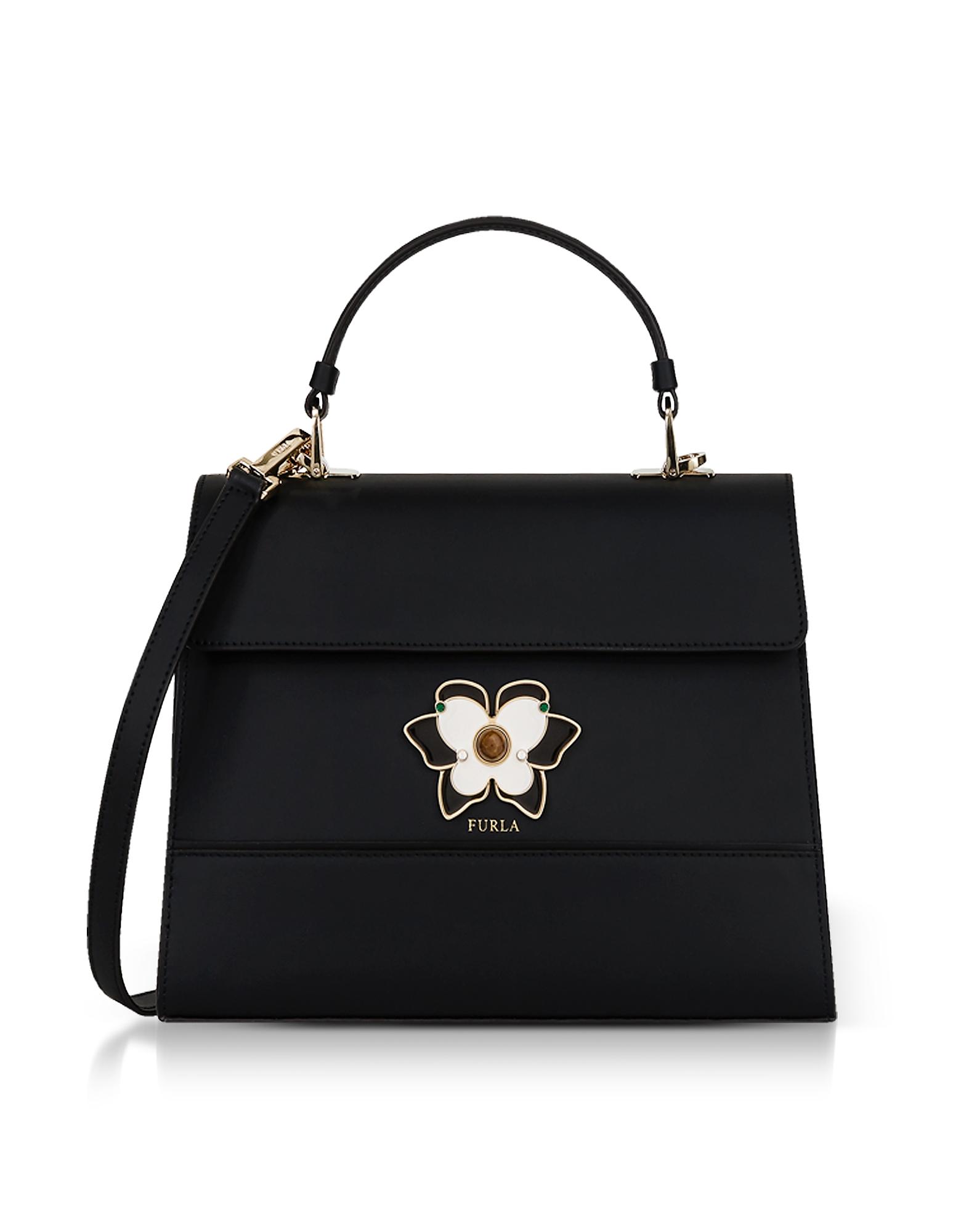 Onyx Mughetto Moyen Top Handle Satchel Bag