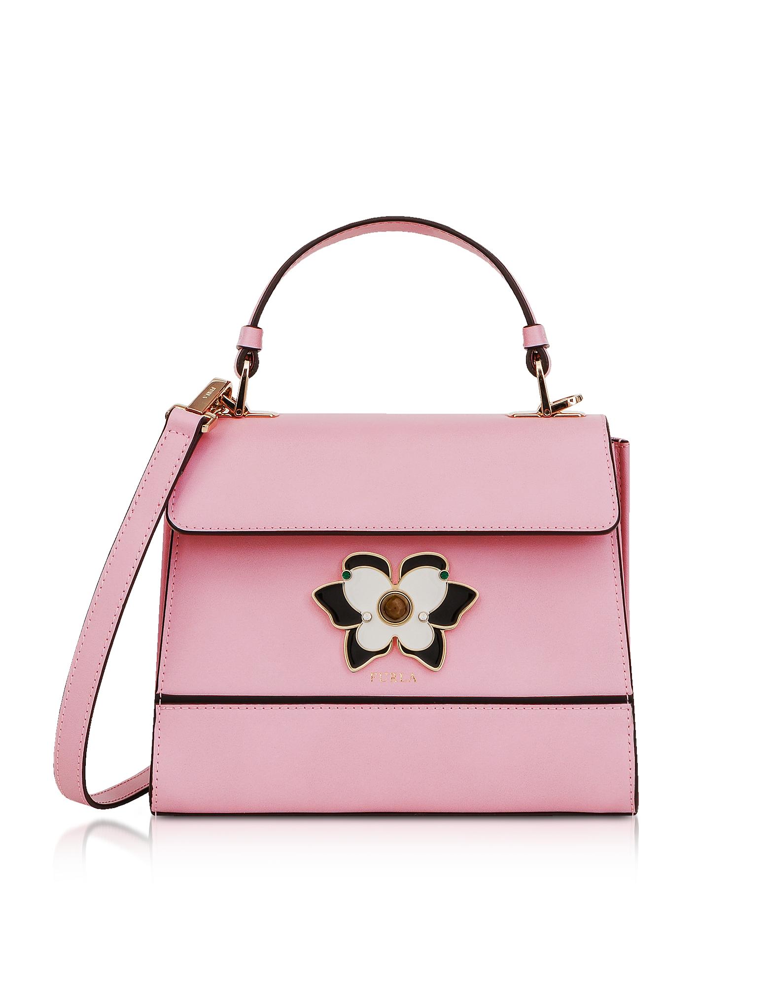 Image of Furla Designer Handbags, Camelia Mughetto Small Top Handle Satchel Bag