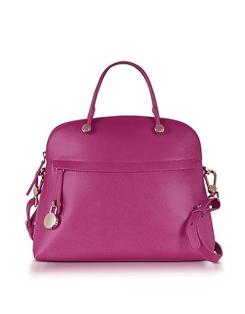 Piper Leather Medium Dome Handbag