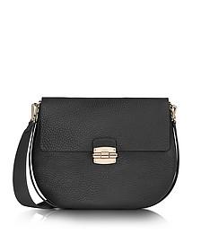 Club M Onyx Pebble Leather Shoulder Bag - Furla