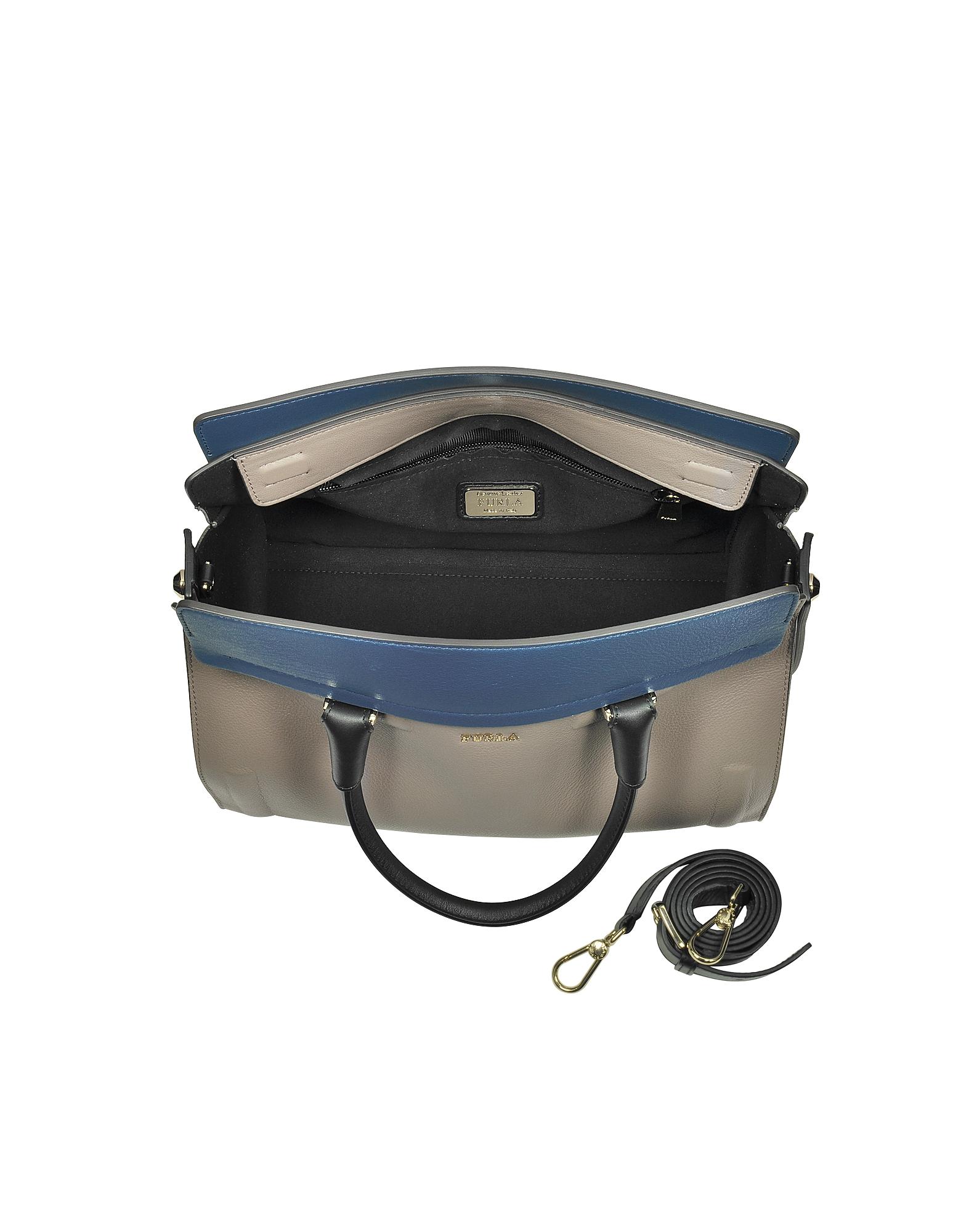 Taupe Valentina Medium Satchel Bag от Forzieri INT