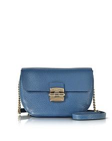 Cobalt Blue Club Mini Pebble Leather Crossbody Bag - Furla
