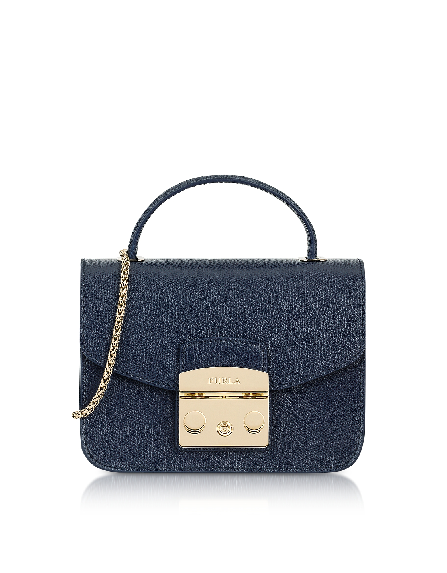 Furla Handbags, Navy Blue Metropolis Mini Top Handle Crossbody Bag