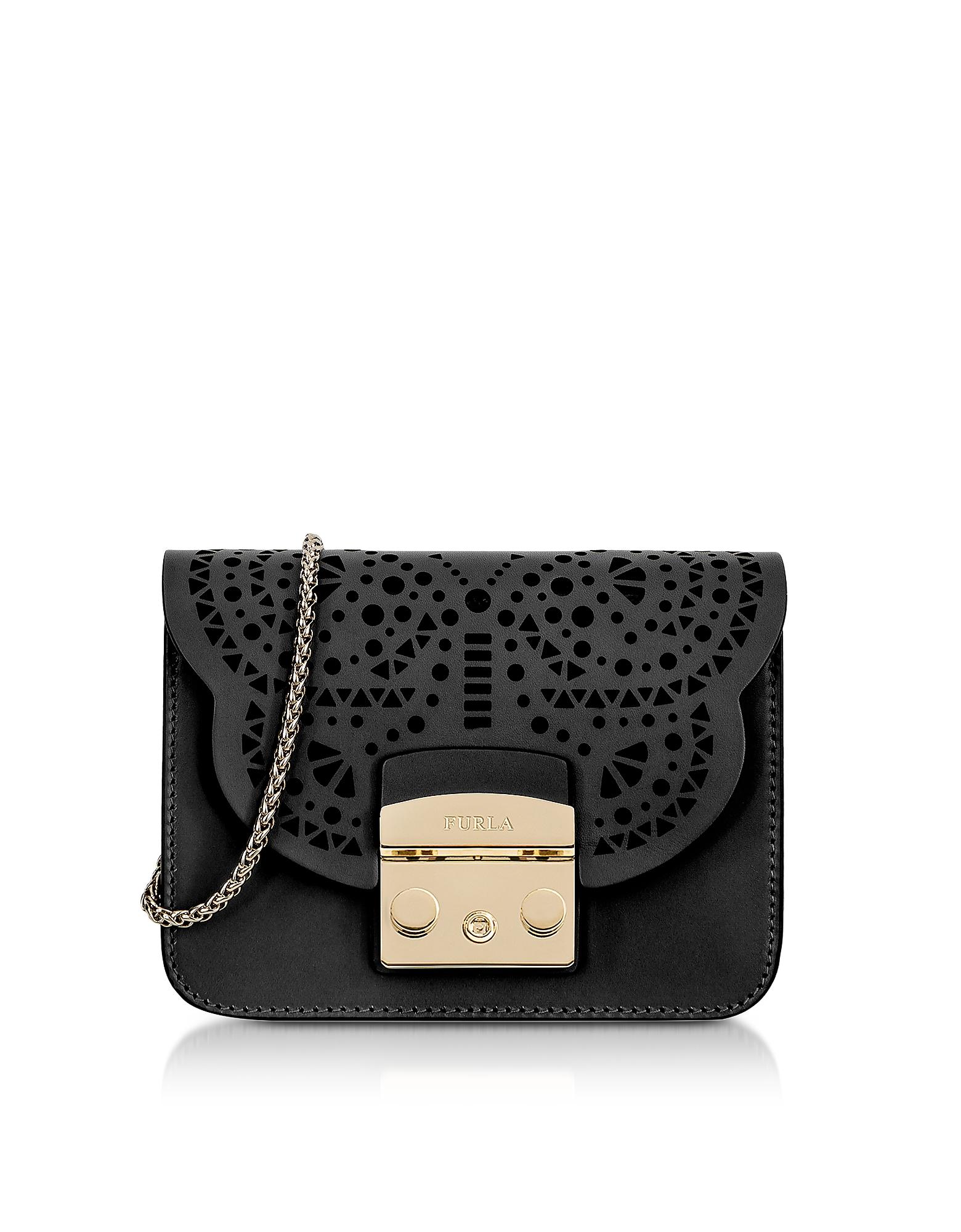 Furla Handbags, Onyx Metropolis Mini Bolero Crossbody Bag