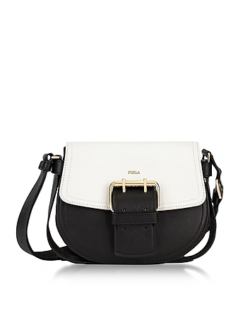 Onyx Petalo and Argilla Python Leather Hashtag Small Crossbody Bag