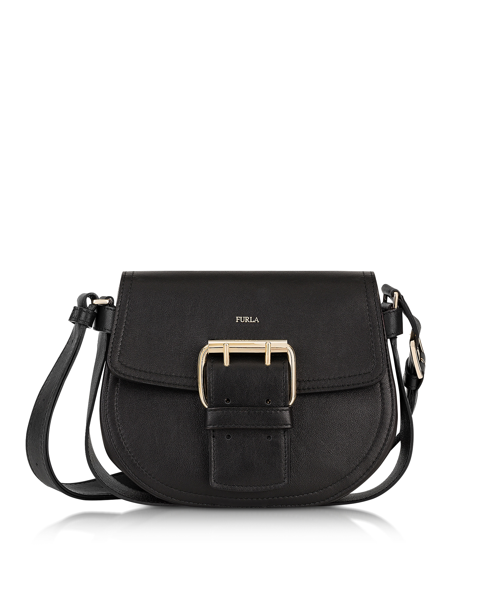 Furla Handbags, Onyx Leather Hashtag Small Crossbody Bag