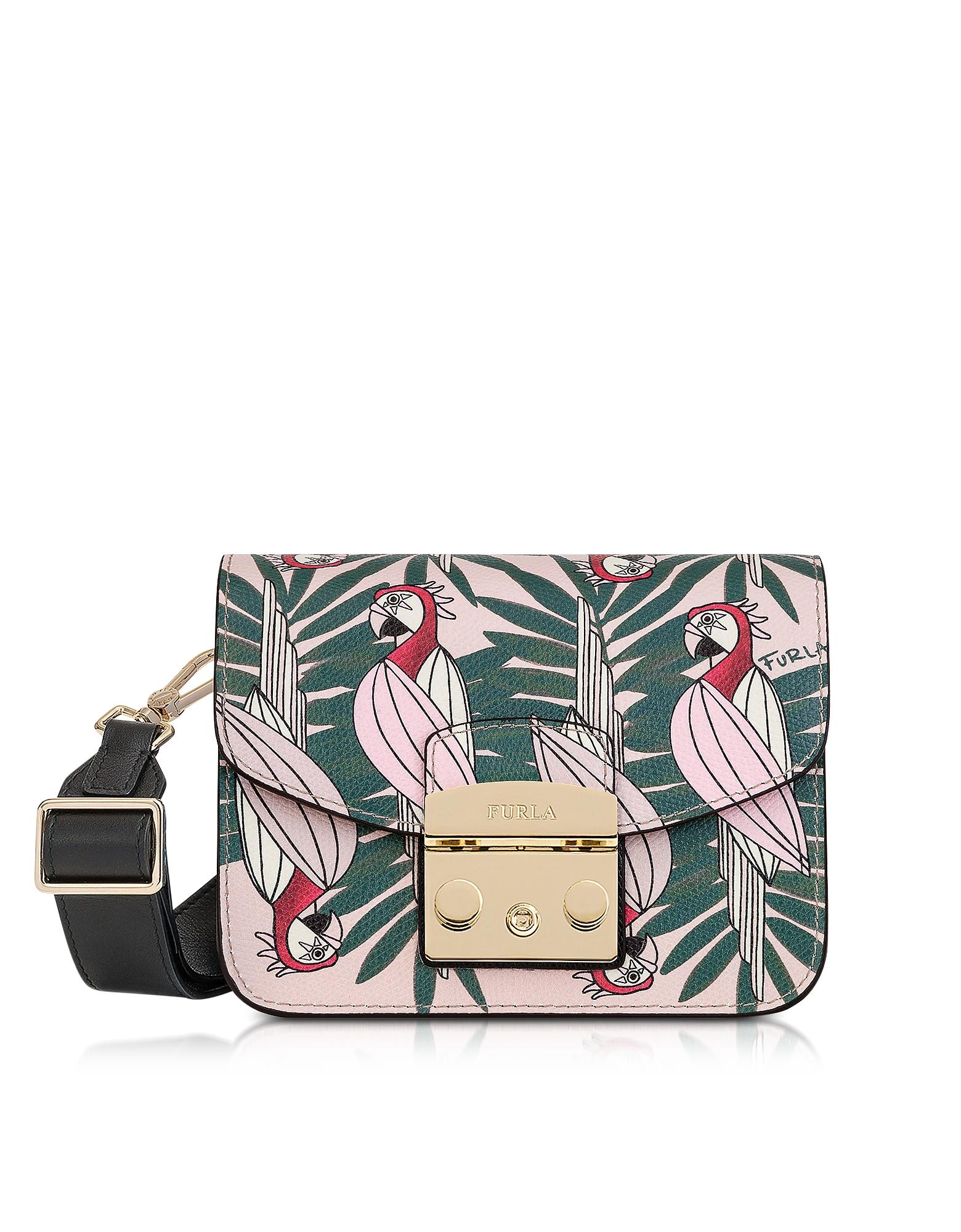 Furla Handbags, Toni Rosa Metropolis Mini Crossbody Bag