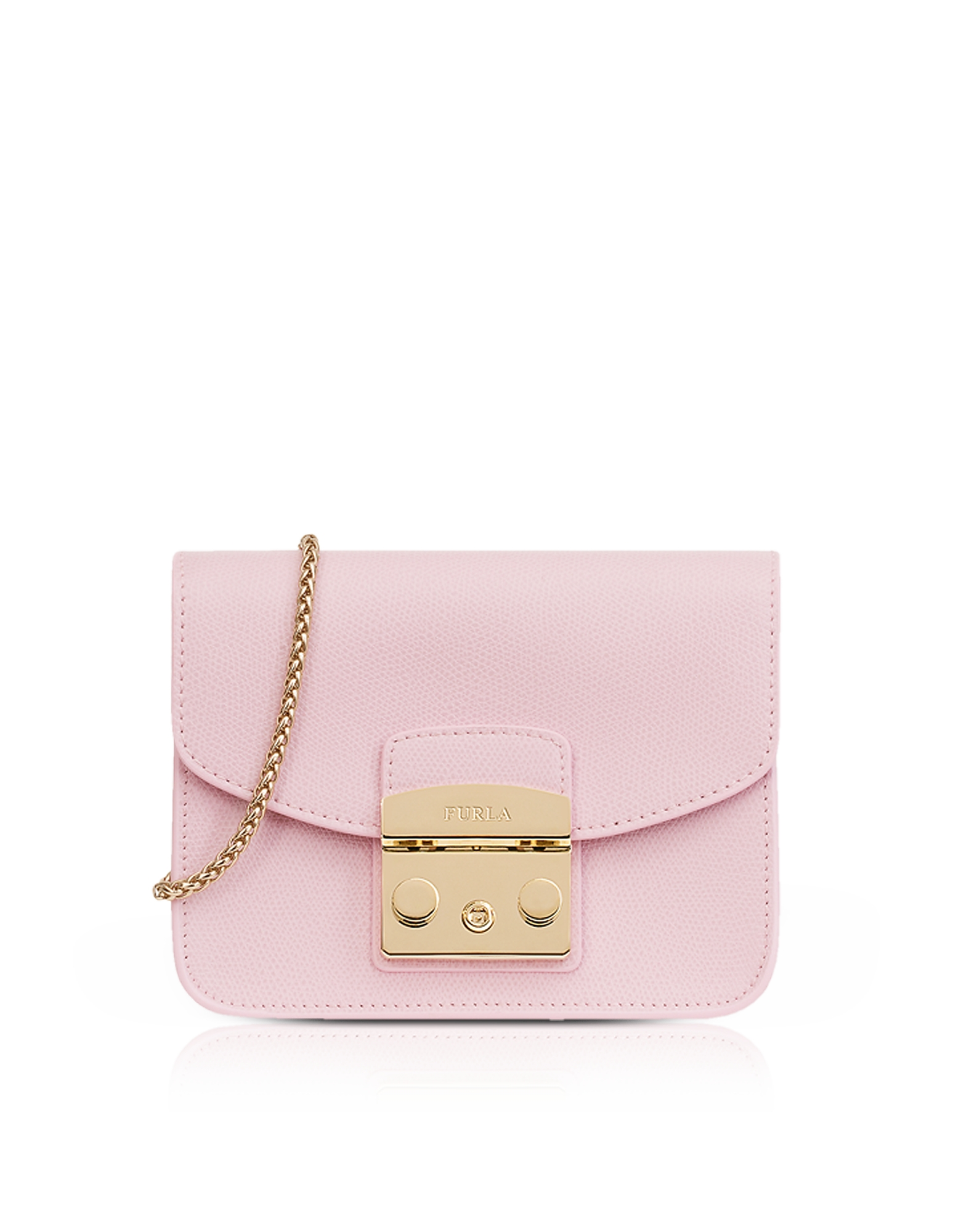 Furla Handbags, Lizard Printed Leather Metropolis Mini Crossbody Bag