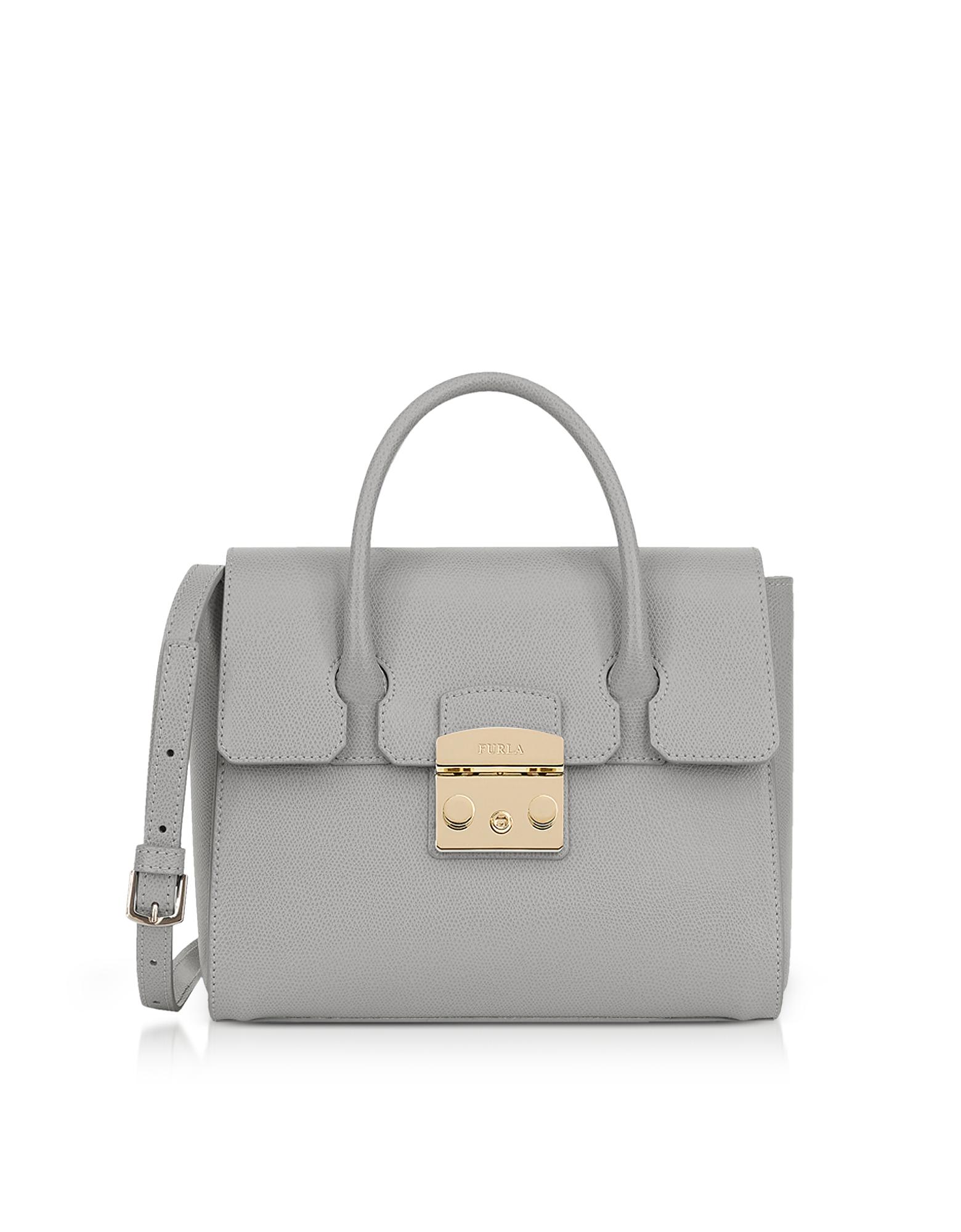 Furla Handbags, Genuine Leather Metropolis Small Satchel Bag