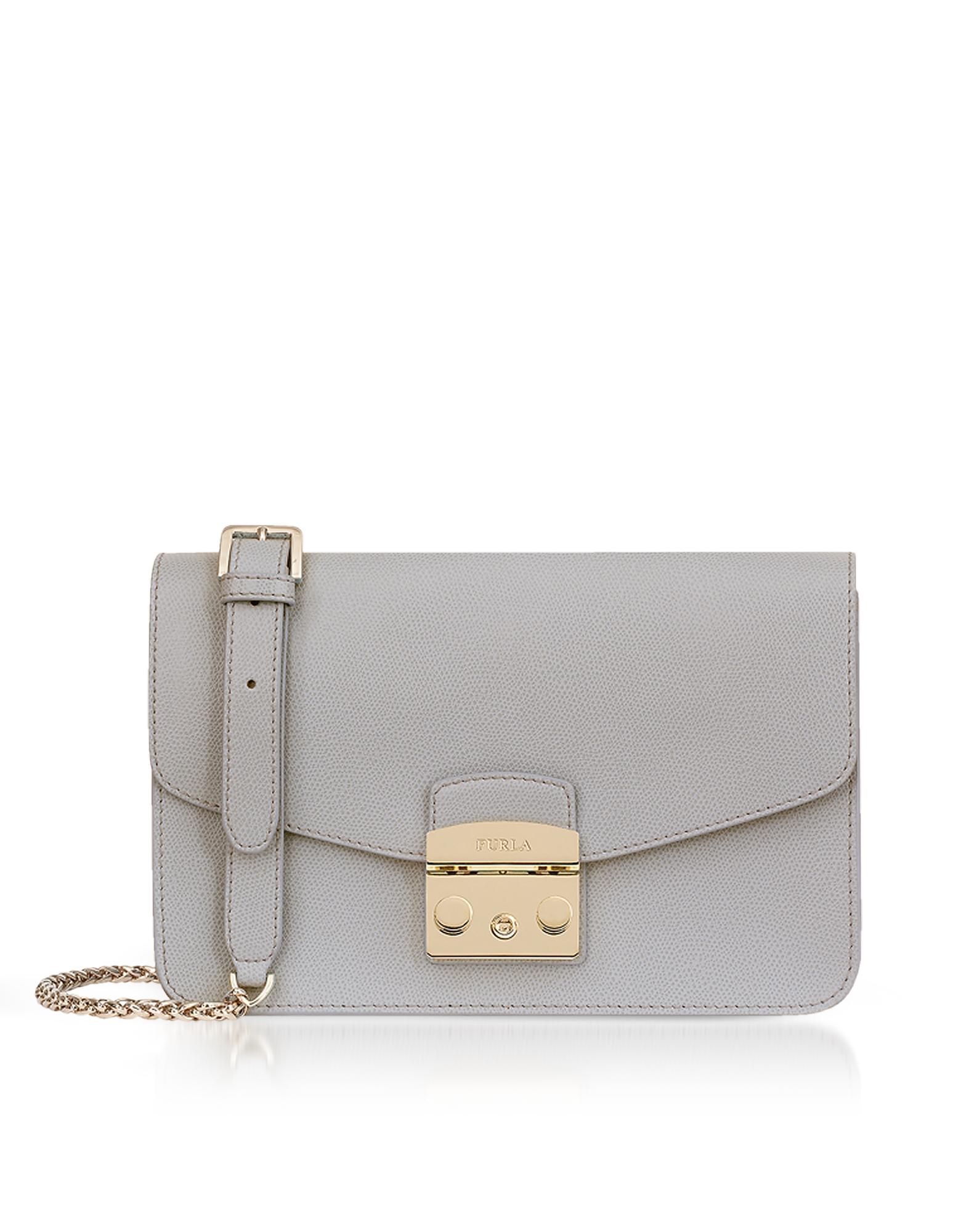 Furla Handbags, Genuine Leather Metropolis Small Shoulder Bag