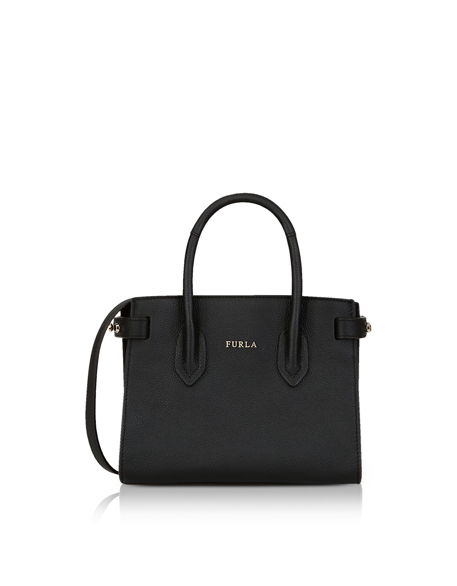 Image of Furla Designer Handbags, Pin Mini Tote Bag w/Shoulder Strap